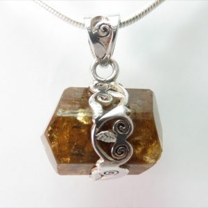 Dravite Tourmaline Crystal Pendant
