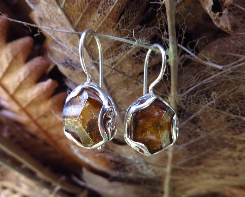 Dravite Tourmaline Earrings