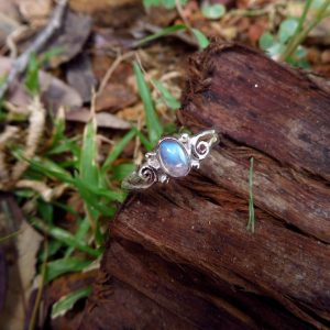 High quality clear moonstone with blue fire