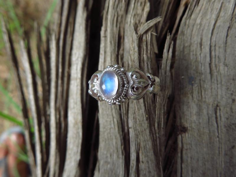 Beautiful blue moonstone_