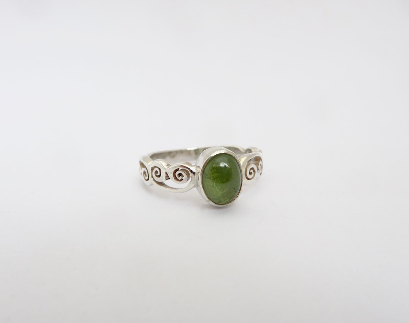 Luscious bright/olive green garnet from Mt. Garnet