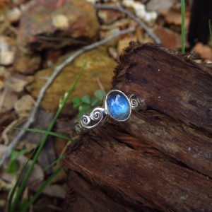 High quality clear labradorite with bright blue fire