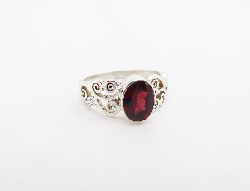Deep red and clear