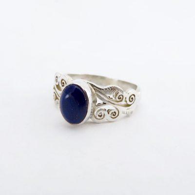 Bright royal-blue lapis lazuli
