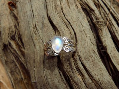 Gorgeous rainbow-coloured moonstone