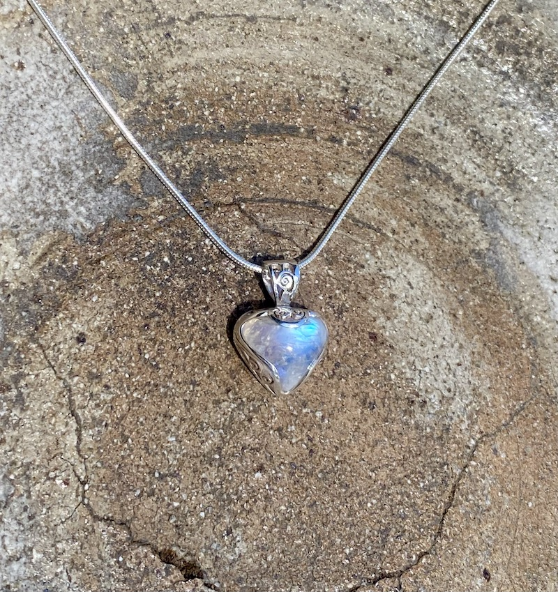 rainbow moonstone mini pendant